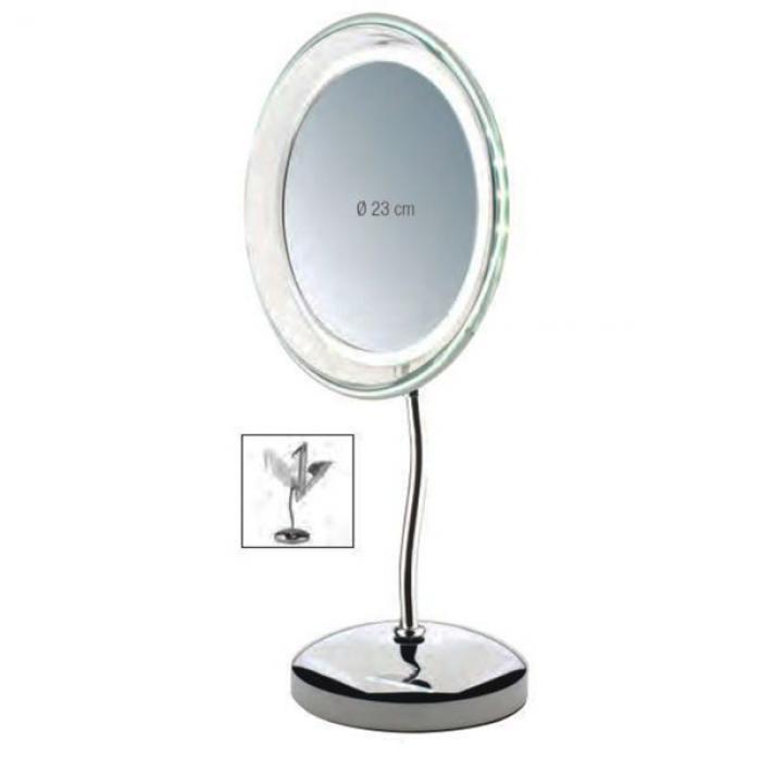 Vergrotende 5x spiegel 23cm met led lampjes inclusief for Vergrotende spiegel