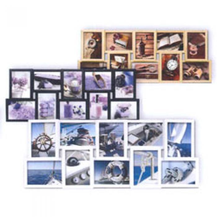 Fotolijst 10 Fotos.Fotolijst Collage 71x28cm Voor 10 Foto S Van 10x15 Zwart