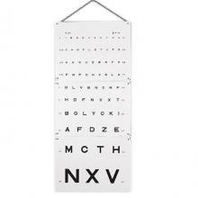 Optometrische leeskaart Monoyer - letters - 3m