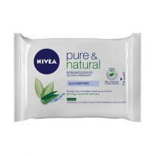 Nivea visage milde reinigingsdoekjes  pure en natural     25st x 2